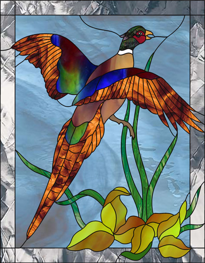 Ducks Stained Glass