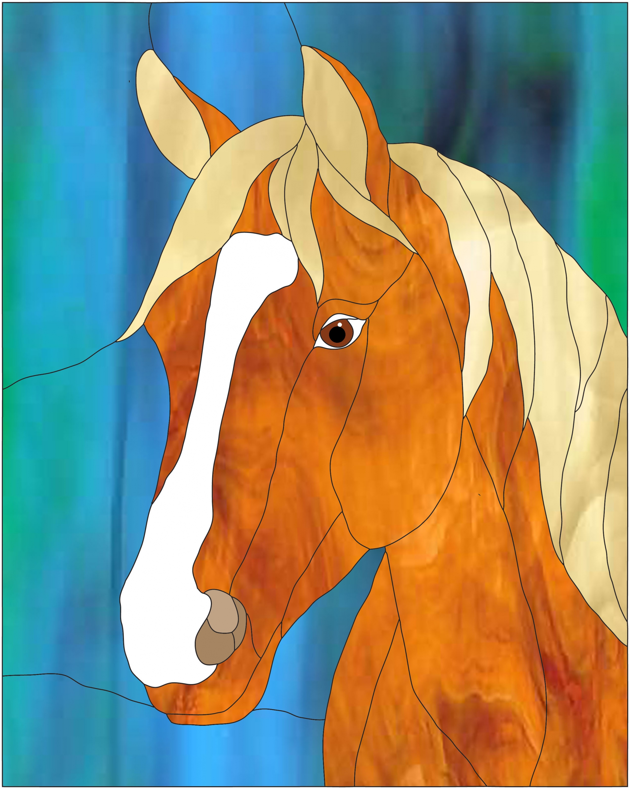 Quarter Horse Head Best Stained Glass Patterns